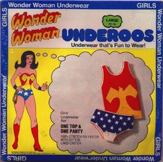 Wonder Woman Underoos. I owned these. Wish I still did! Haha!