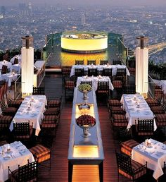 Rooftop romance: If it's a jaw-dropping vista you crave, look no farther than Bangkok's Sky Bar, the world's highest open-air restaurant, perched atop the 63rd floor of The Dome at Lebua.