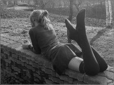 .Reminiscent school girl
