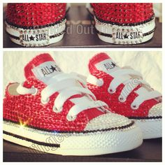 Bling Chucks/Converse Made For A Baby! Swarovski Crystals Were Used.