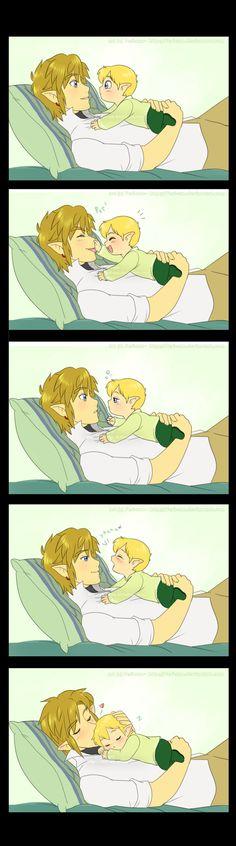 EEEEEEE SOOOO CUTE!!!!! Papa Link by *Feri-san on deviantART