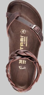 Sandal style Birkenstocks with braided leather around ankle, love it!