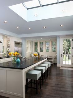Kitchen Blue Brown Sofas White Kitchen Design, Pictures, Remodel, Decor and Ideas - page 3
