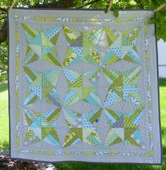 kaleidoscope quilt by teaginny, via Flickr