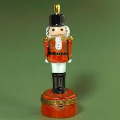 Limoges Red Nutcracker Box hing box, red nutcrack, boxes, nutcrack box, cottag shop, nutcrackers, limog box, nutcrack suit, limog red
