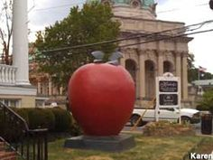 You can see this giant apple in Winchester, VA