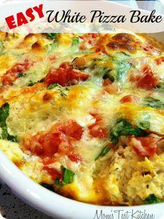 Easy White Pizza Bake