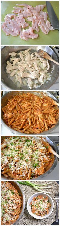 dinner, sour cream, enchilada sauce, chicken breasts, pasta recipes, chicken enchiladas, chicken pasta, enchilada pasta, green onions
