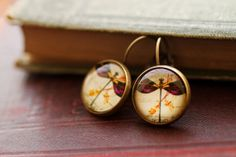 Purple Dragonfly earrings dragonfly jewelry by RubyRobinBoutique, €15.00