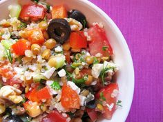 Mediterranean Quinoa Salad by aliceinparislovesartandtea #Salad #Quinos #Mediterranean #Healthy