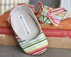 Baby ShoesSoft Soled Rainbow Bliss Sizes 14 by BitsyBlossom, $30.00
