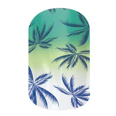 Emerald Palm  nail wraps by Jamberry Nails