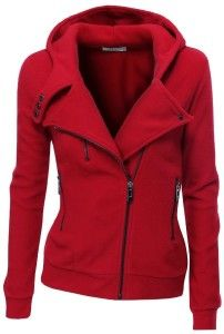 Adorable fleece zip-up hoodie with zipper point fall fashion | Fashion Magzen