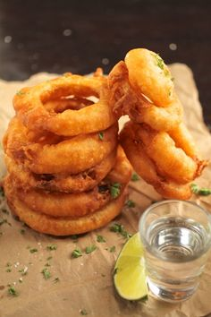 Tequila Battered Onion Rings
