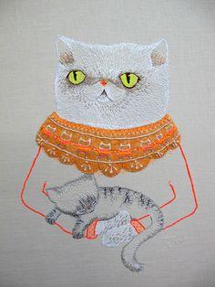 Embroidery by catrabbitplush.