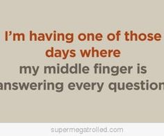 laugh, stuff, monday, fingers, funni, humor, middl finger, quot, thing