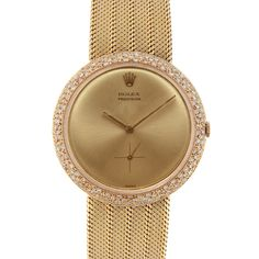 Rolex Diamond Yellow Gold Dress Watch