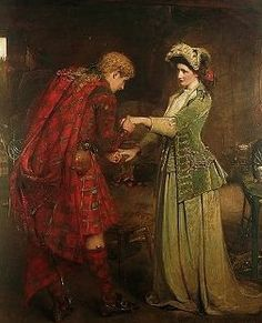 George William Joy (1844-1925) - Prince Charlie's Farewell to Flora MacDonald. Oil on Canvas. Circa 1890-1895.