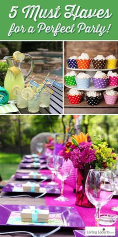 Make a great first impression when planning your next party with these top 5 must have items!