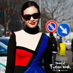 Everything about this is spot on. See during Milan Fashion Week. #ShadesOfFashionWeek #MFW #sunglasses