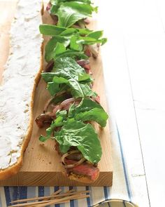 Grilled Steak Sandwiches with Goat Cheese and Arugula