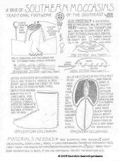 Instructions for making Southeastern moccasins