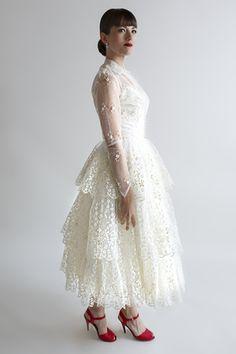 The Felicity Dress, a 1950s wedding dress from Beloved Vintage Bridal.