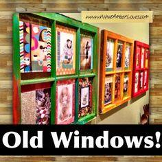 Old Windows Repurposed as Art. (See the details on my blog.) #windows #repurposed