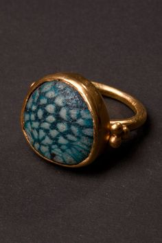 Gold ring with murrino Italy 1950