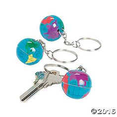 Globe Key Chains. Th