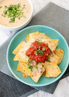 Slow Cooker Bean and Cheese Dip - This can also be made on the stove, but I like to make it in the slow cooker.