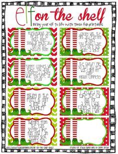 FREE Elf on The Shelf Printable Notes #FREE #ElfontheShelf #ElfontheShelfIdeas