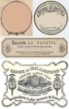 Pretty French Vintage Labels, Free Printable