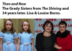 "Then and Now: The Ghost Twins from ""The Shining."" #thenandnow #theshining"