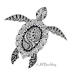 Another great sea turtle tattoo design