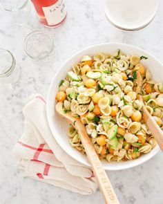 Orecchiette Pasta Salad with Cantaloupe and Avocado from Sigrid Verbert
