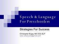 Speech & Language Strategies For Success