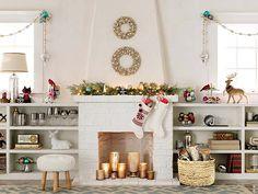 fireplac altern, holiday, fireless fireplac, christma decor, christmas, altern idea, christma room, christma hearth, decor idea