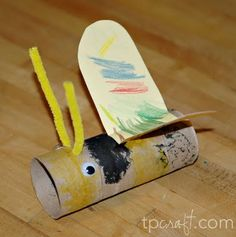 bumbl bee, bee kids crafts, toilet paper rolls, bumble bees, craft ideas, cardboard tubes, kid crafts, inexpensive crafts, kids crafts bug bumblebee