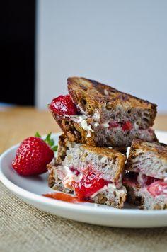 White chocolate strawberry panini