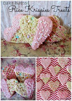 holiday, valentine day, cakes, batter rice, rice krispies treats, krispie treats, krispi treat, rice crispy treats, cake batter