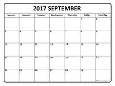 September 2017 monthly calendar printable | 2017 Printable ...
