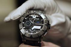 Harry Winston Ocean Sport Chronograph Watch 411 - Limited Edition of 300 pieces. Price: $31,500.00 harrywinston, harri winston, harry winston, style, men accessories, watch, sports, ocean sport, stylish men