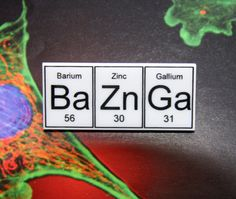 For all of us Big Bang Theory fans: BaZnGa  periodic table inspired  brooch by WendyJNZ on Etsy, $15.00