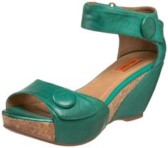 Funky green shoes...wonder if they come in other colors.