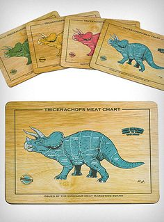 Dino-Meat Place Mats Set of 4 | PLASTICLAND