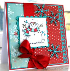 penny black snowman stamp