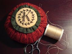 custom monogram pincushion pattern