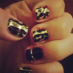 Jamberry Nails Gold Leopard. Love. www.jamwithcary.jamberrynails.net