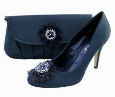 Menbur Avance Navy Blue Evening Shoes. Navy Wedding Shoes.